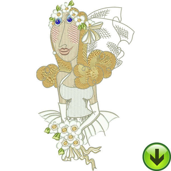 Daisy Bride Embroidery Design | DOWNLOAD
