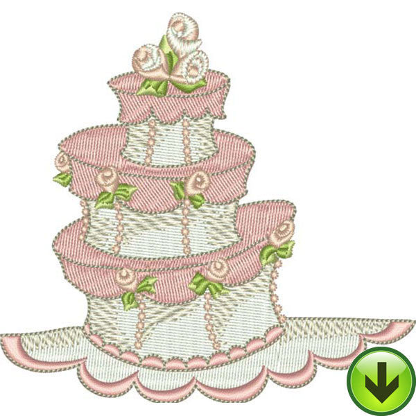 Quirky Cake Embroidery Design | DOWNLOAD
