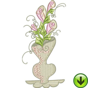 Shapely Vase Embroidery Design | DOWNLOAD