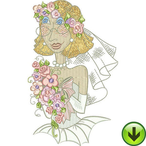 Sweet Bride Embroidery Design | DOWNLOAD
