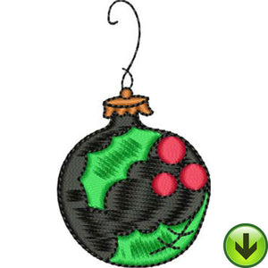 Holly Ball Embroidery Design | DOWNLOAD