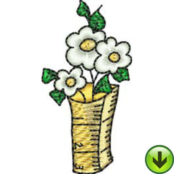 Ruler Vase Embroidery Design | DOWNLOAD