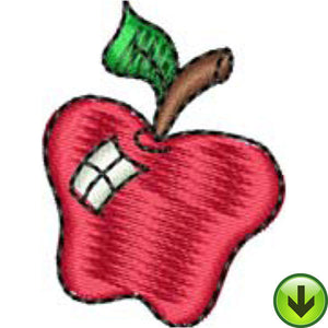 Shiny Apple Embroidery Design | DOWNLOAD