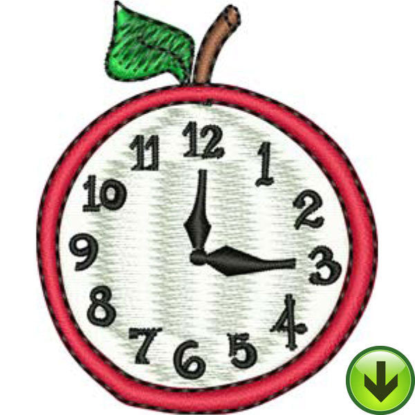 Three O' Clock Embroidery Design | DOWNLOAD