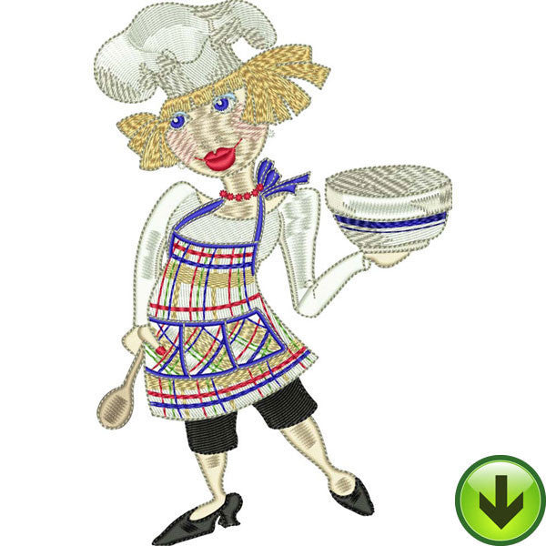 Happy Cook Embroidery Design | DOWNLOAD