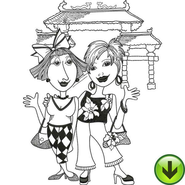 China Dinah & Fran Embroidery Design | DOWNLOAD