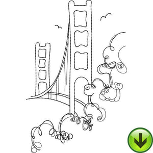 Golden Gate Bridge Embroidery Design | DOWNLOAD