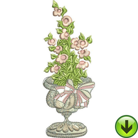 Pink Pot Embroidery Design | DOWNLOAD