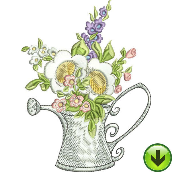 Watering Can Embroidery Design | DOWNLOAD