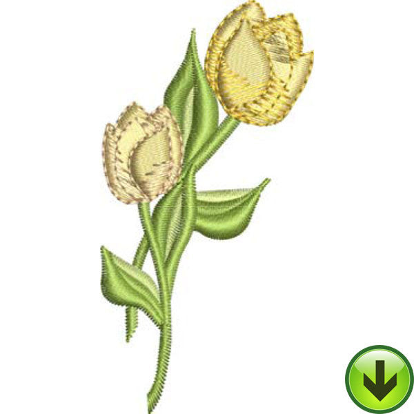 Two Tulips Embroidery Design | DOWNLOAD
