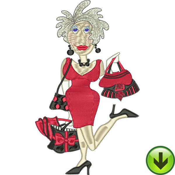Bag Lady Embroidery Design | DOWNLOAD