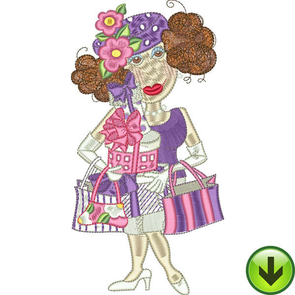 Super Shopper Embroidery Design | DOWNLOAD