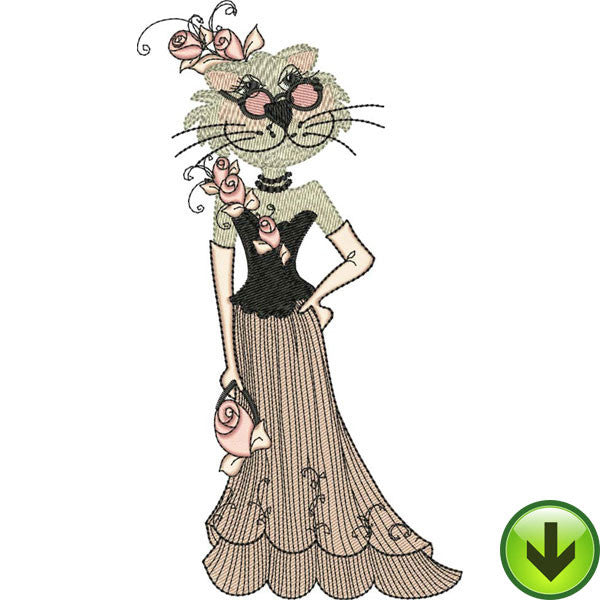Lady Cats 1 Embroidery Machine Design Collection | Download