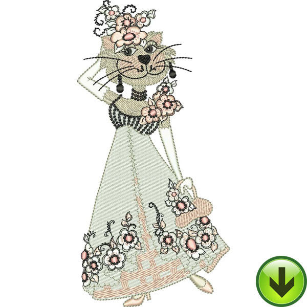 Lady Lucinda Embroidery Design | DOWNLOAD