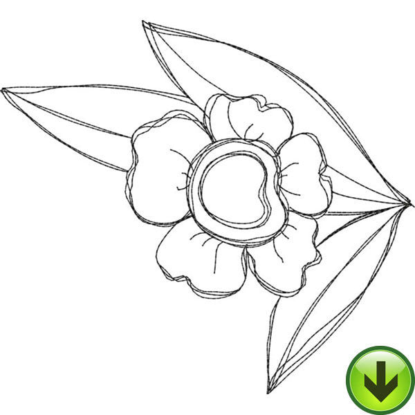 Bloomer 2 Embroidery Design | DOWNLOAD