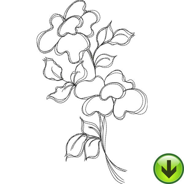 Bloomer 3 Embroidery Design | DOWNLOAD