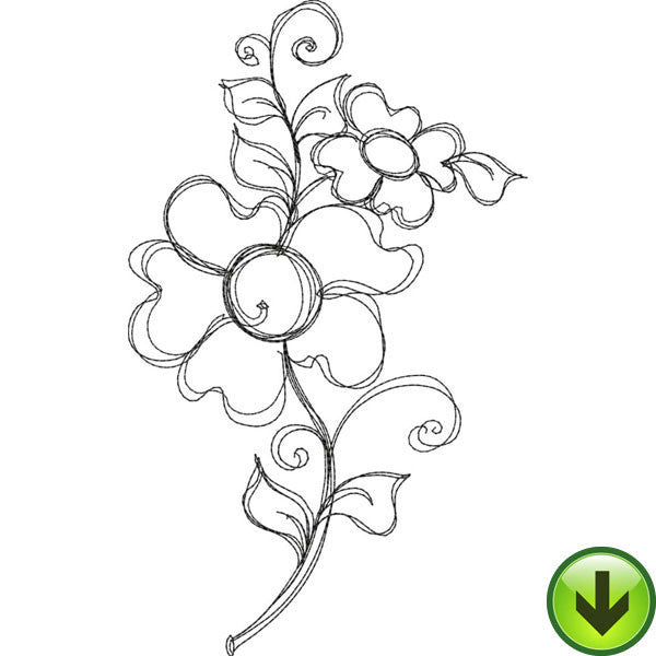 Bloomer 5 Embroidery Design | DOWNLOAD