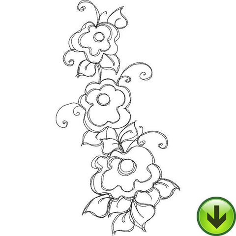 Bloomer 7 Embroidery Design | DOWNLOAD