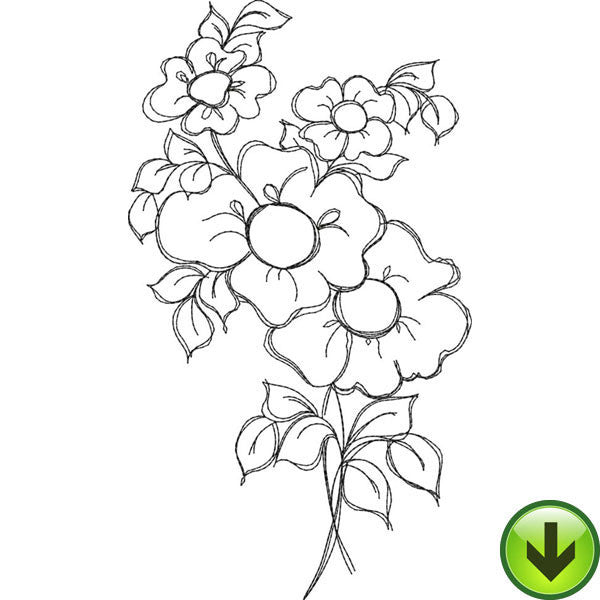 Bloomer 8 Embroidery Design | DOWNLOAD