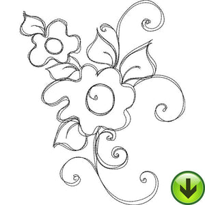 Bloomer 9 Embroidery Design | DOWNLOAD