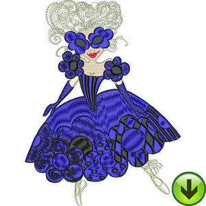 Blue Daisy Dancer Embroidery Design | DOWNLOAD