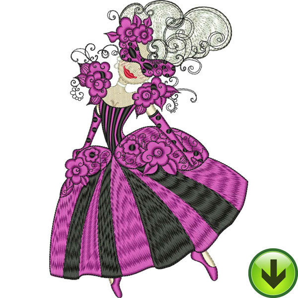 Magenta Maid Embroidery Design | DOWNLOAD