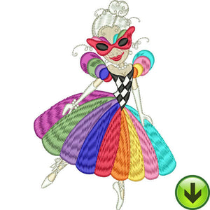 Rainbow Beauty Embroidery Design | DOWNLOAD