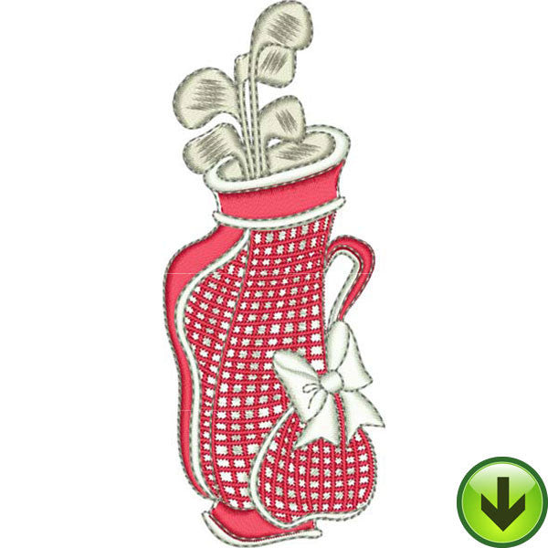 You Golf Girl! 3 Embroidery Machine Design Collection | Download