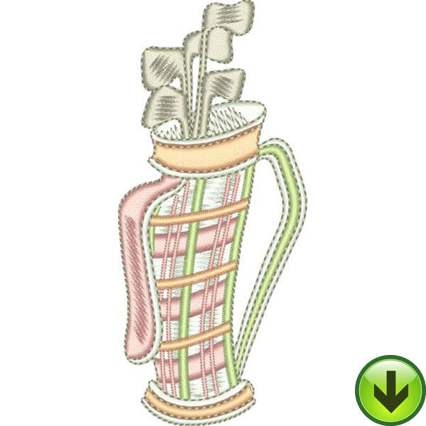 Caddie Embroidery Design | DOWNLOAD