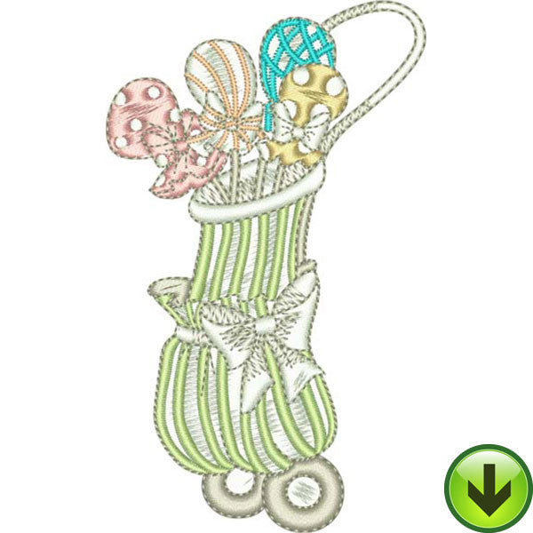 You Golf Girl! 4 Embroidery Design Collection | Download