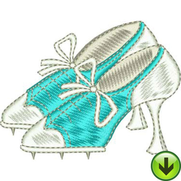 Well Heeled Embroidery Design | DOWNLOAD