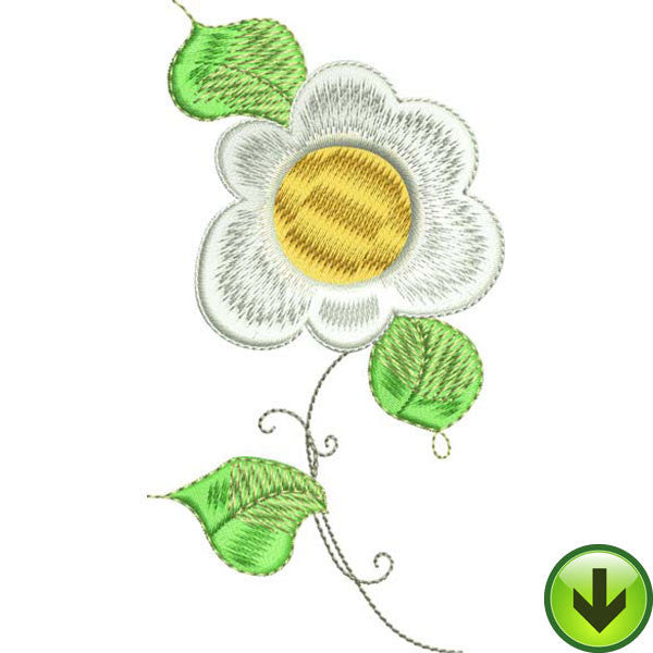 Sun Daisy Embroidery Design | DOWNLOAD