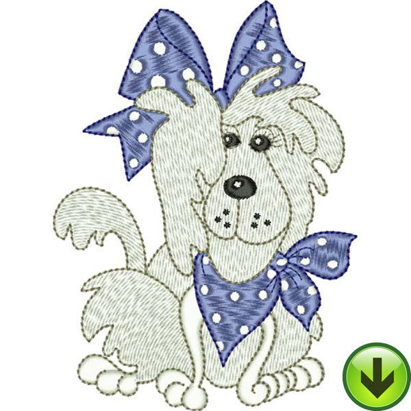 Bandana Dog Embroidery Design | DOWNLOAD