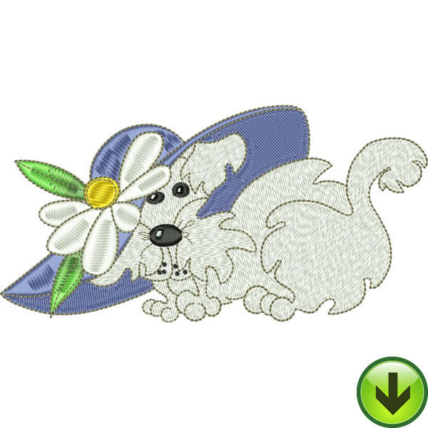 Blue Daisy May Embroidery Design | DOWNLOAD
