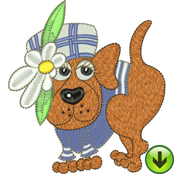 Plaid Pup Embroidery Design | DOWNLOAD