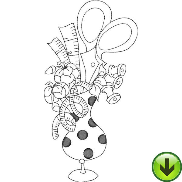 Sew Bouquet Embroidery Design | DOWNLOAD