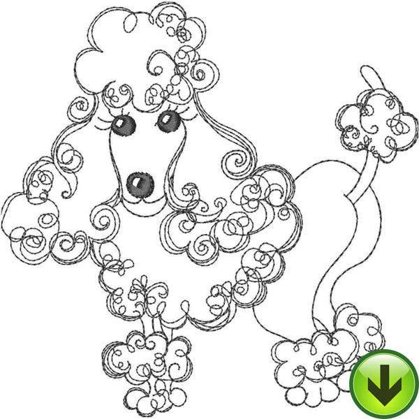 Perm Pooch Embroidery Design | DOWNLOAD