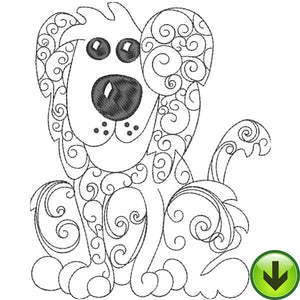 Sophie Scroll Embroidery Design | DOWNLOAD