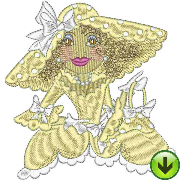 Belle Topaz Embroidery Design | DOWNLOAD