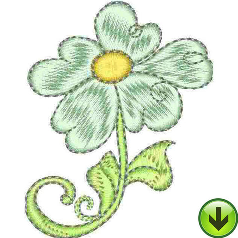 Heart Daisy Embroidery Design | DOWNLOAD