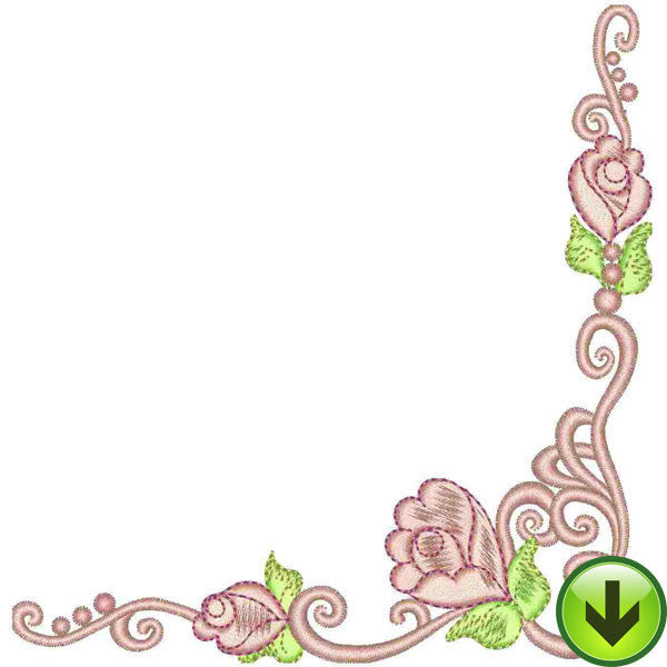Rosie Scroll Embroidery Design | DOWNLOAD