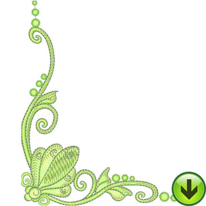 Spring Scroll Embroidery Design | DOWNLOAD