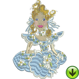 Belle BlueDaisy Embroidery Design | DOWNLOAD
