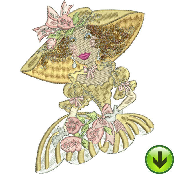 Belle Charlotte Embroidery Design | DOWNLOAD