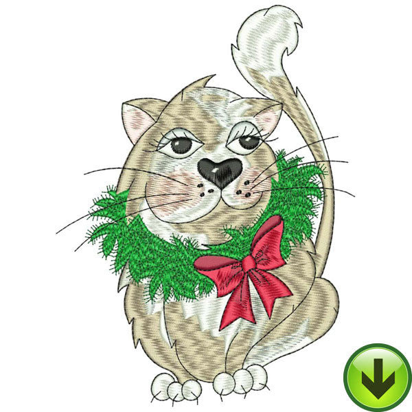 Kitty Kitty Christmas Machine Embroidery Collection | Download