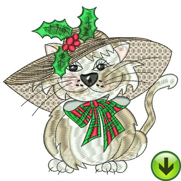 Bitty Kitty Embroidery Design | DOWNLOAD