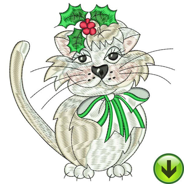 Cutie Kitty Embroidery Design | DOWNLOAD