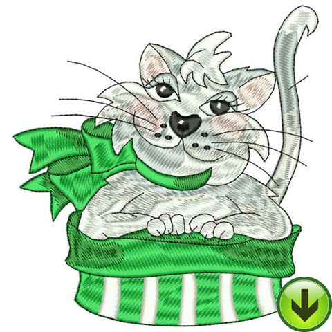Kitty Caper Embroidery Design | DOWNLOAD