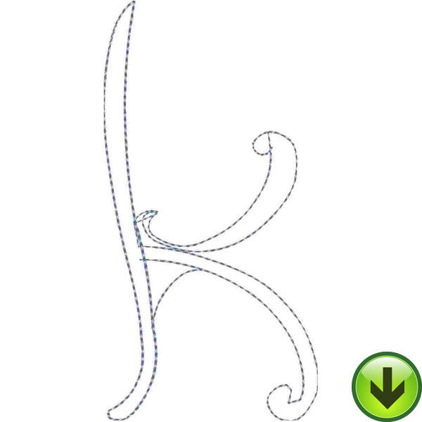 k Lower Case Embroidery Design | DOWNLOAD