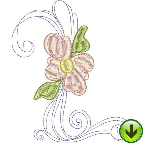 L Upper Case Embroidery Design | DOWNLOAD